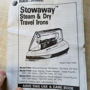 Stowaway Steam/Dry Travel Iron